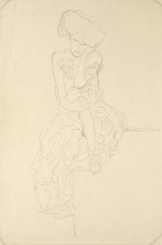 Gustav Klimt – Sedící žena