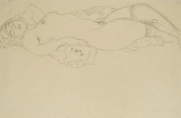 Gustav Klimt – Ležící ženský akt