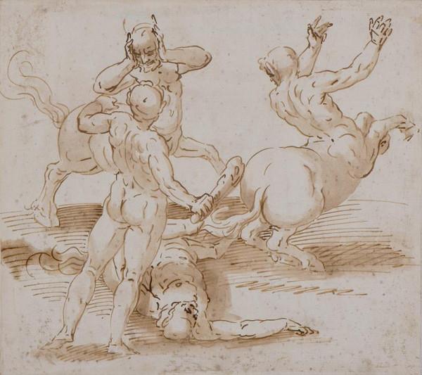 Luca Cambiaso - dílna - Herkules a kentauři
