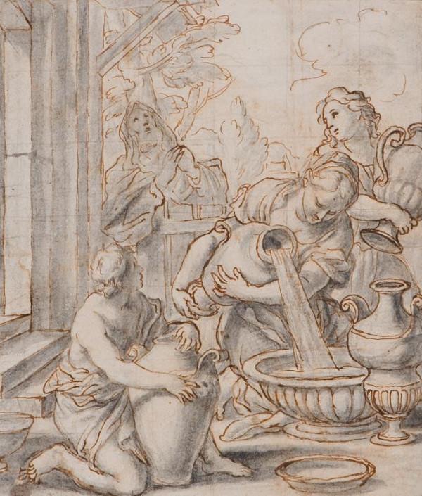 neznámý malíř italský – Rebeka a Eliezer