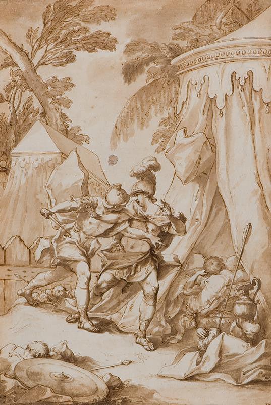 Giovanni Battista Lenardi (?) – Scéna z Osvobozeného Jeruzaléma?