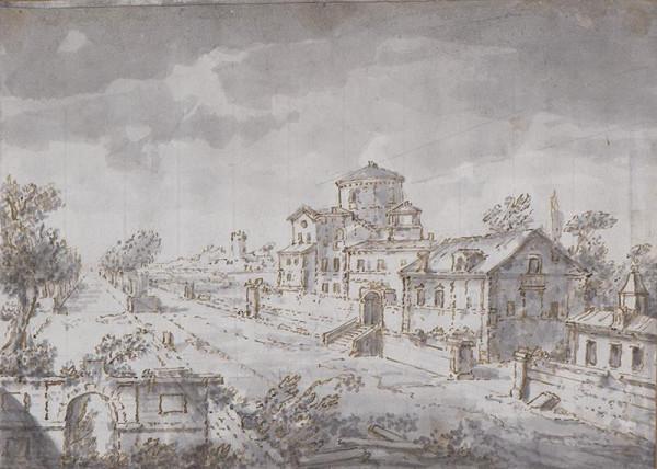 Francesco Battaglioli (?) - Veduta z Veneta