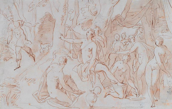 neznámý malíř - Diana a Akteon