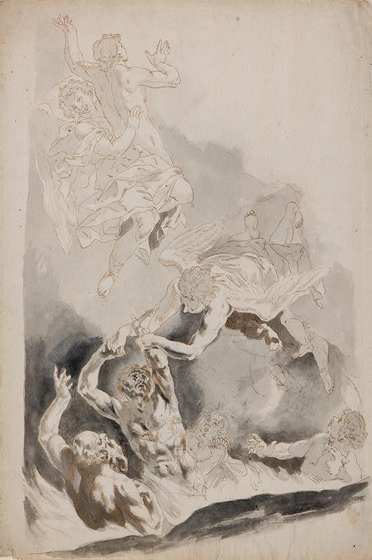 Sebastiano Ricci - podle - Přímluva sv. Řehoře - část kompozice