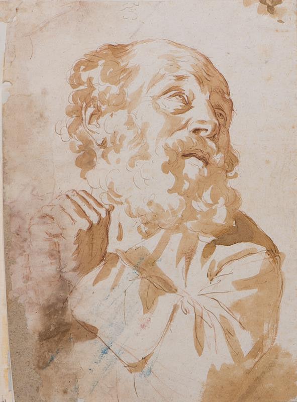 neznámý malíř italský – Stařec v modlitbách