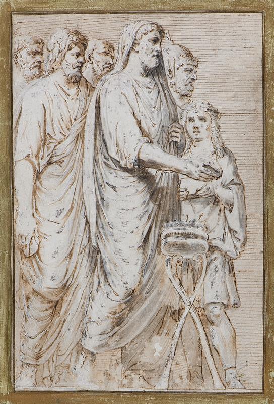 neznámý malíř - Antická obětní scéna (Obětování Jupiteru)