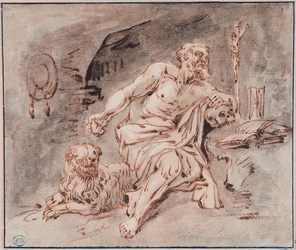 Luca Giordano - podle - Sv. Jeroným