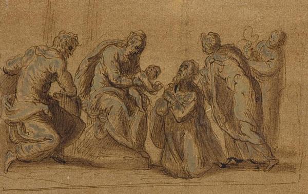 Jacopo Negretti zv. Palma il Giovane - okruh – Klanění tří králů