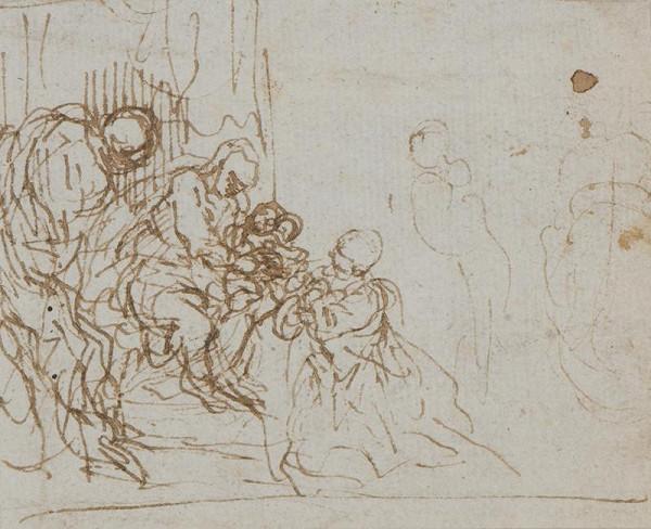Jacopo Negretti zv. Palma il Giovane (?) - Zasnoubení sv. Kateřiny