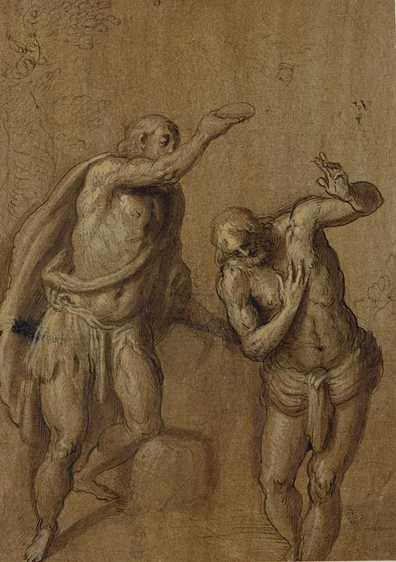 Jacopo Negretti zv. Palma il Giovane - okruh – Křest Krista