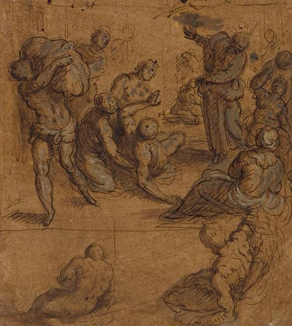 Jacopo Negretti zv. Palma il Giovane - okruh – Uzdravení u rybníka Bethesda