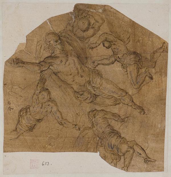 Jacopo Negretti zv. Palma il Giovane - okruh – Vznášející se Kristus