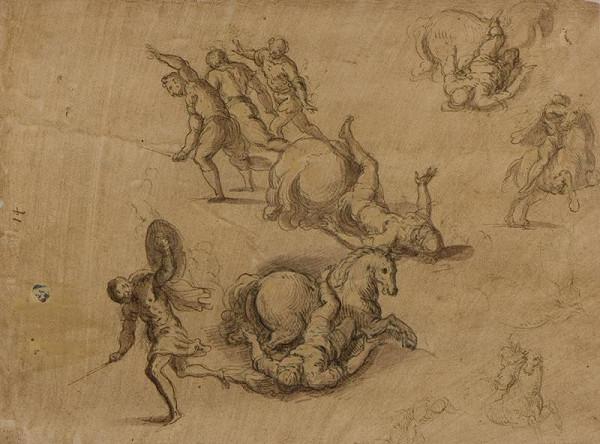 Jacopo Negretti zv. Palma il Giovane - okruh - Obrácení sv. Pavla