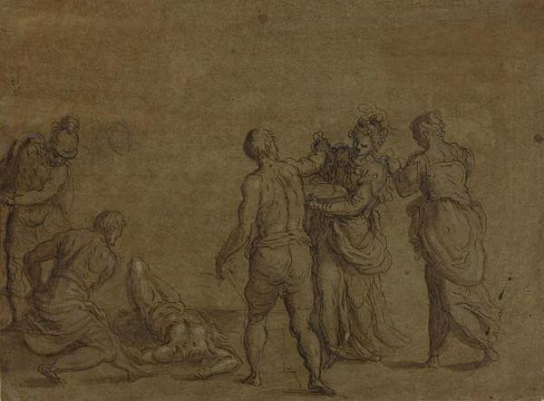 Jacopo Negretti zv. Palma il Giovane - okruh – Stětí sv. Jana Křtitele