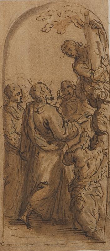 Jacopo Negretti zv. Palma il Giovane - okruh – Kristus volá Zachea