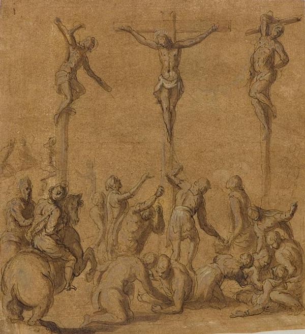Jacopo Negretti zv. Palma il Giovane - okruh – Ukřižování