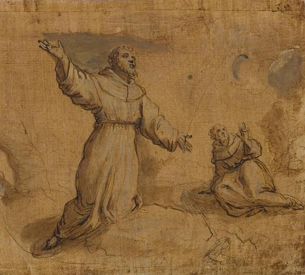 Jacopo Negretti zv. Palma il Giovane - okruh – Stigmatizace sv. Františka