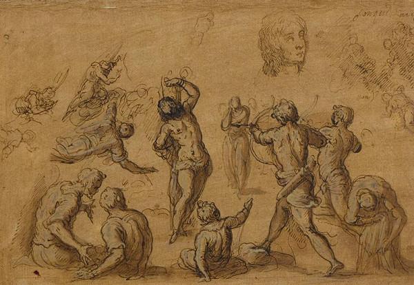 Jacopo Negretti zv. Palma il Giovane - okruh – Martyrium sv. Šebestiána