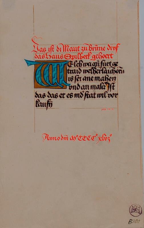 Mořic (Mauritz) Vilém Trapp – Ukázky písma z 15.stol.