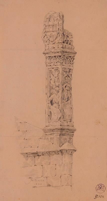 Mořic (Mauritz) Vilém Trapp – Podstavec sochy Bruncvíka na Karlově mostě