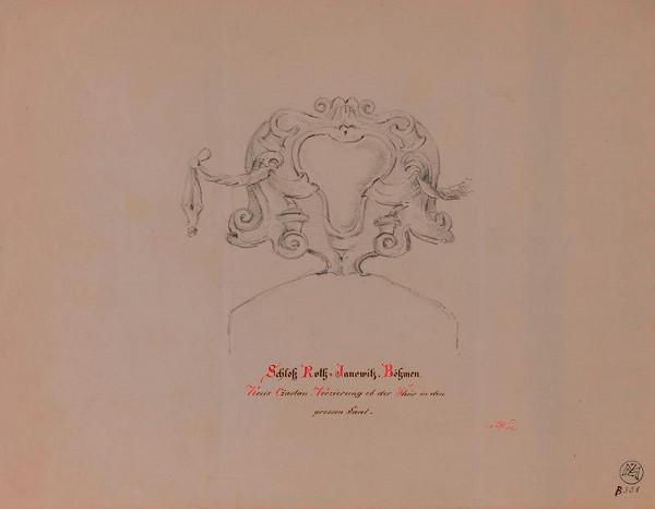 Mořic (Mauritz) Vilém Trapp – Kartuš z dveří zámku v Červených Janovicích
