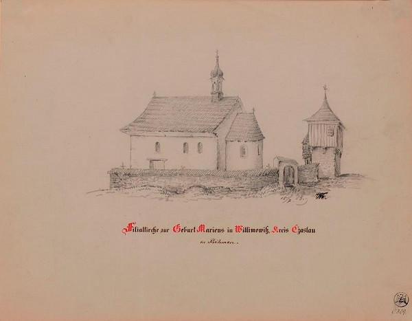 Mořic (Mauritz) Vilém Trapp – Filiál. kostel Narození P.Marie ve Vilémovicích u Čáslavě