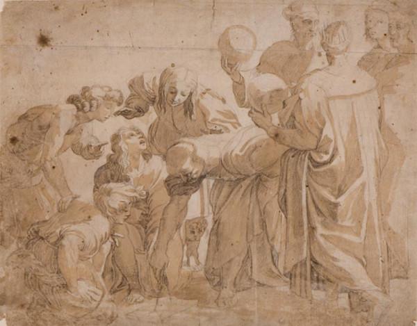 Santi Raffael - podle - Pythagoras se svými žáky (Škola athénská)