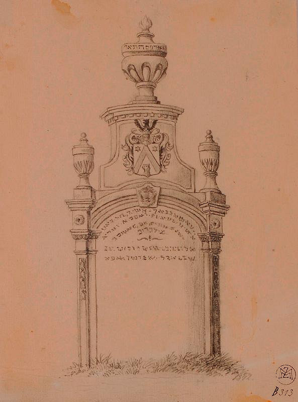 Mořic (Mauritz) Vilém Trapp – Ze židovského hřbitova v Praze