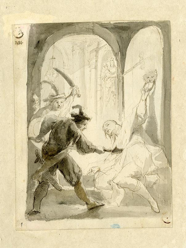 Josef Winterhalder I. (Winterhalter) (?) – Zavraždění sv.Václava