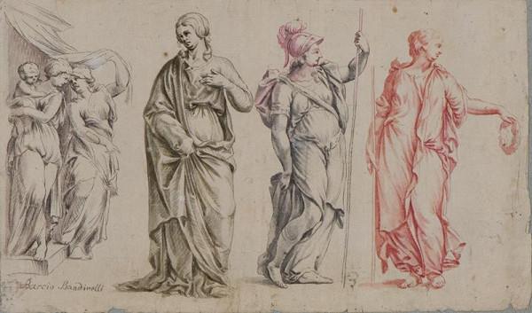 Baccio (Bartolomeo) Bandinelli - podle - Figurální kresby