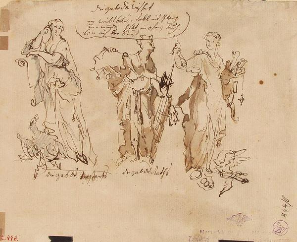 Josef Winterhalder I. (Winterhalter) (?) - Tři alegorické postavy