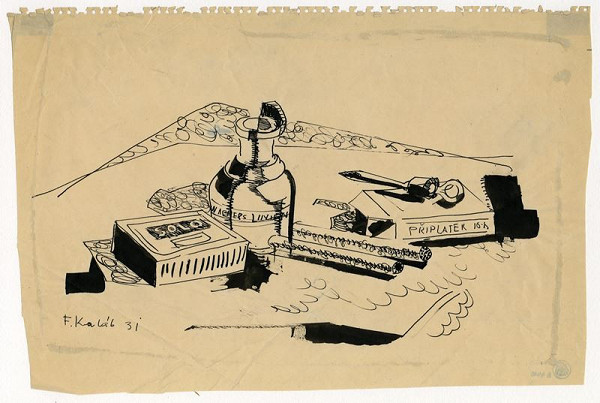 František Kaláb – Kuřácké zátiší