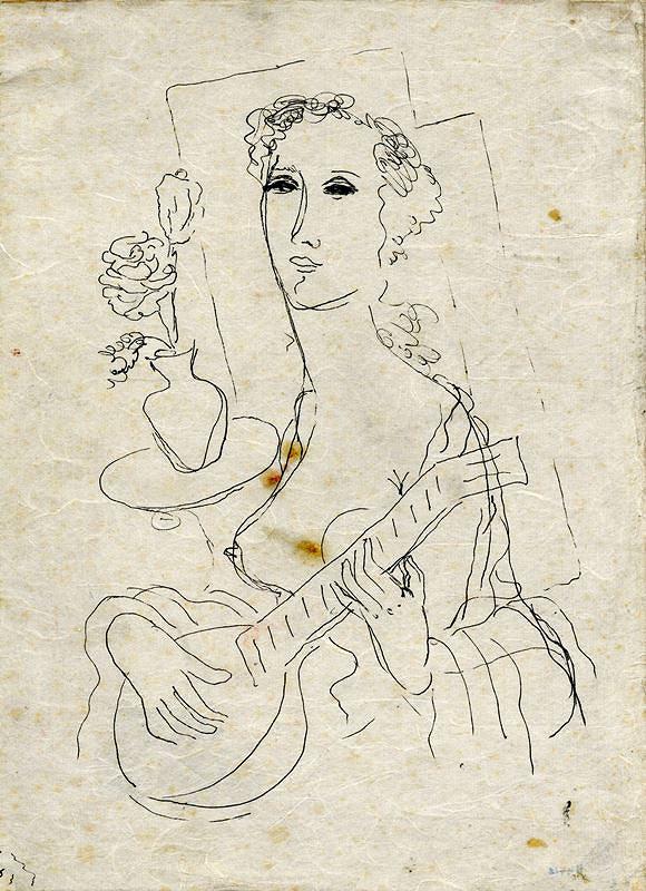 František Kaláb - Žena s kytarou