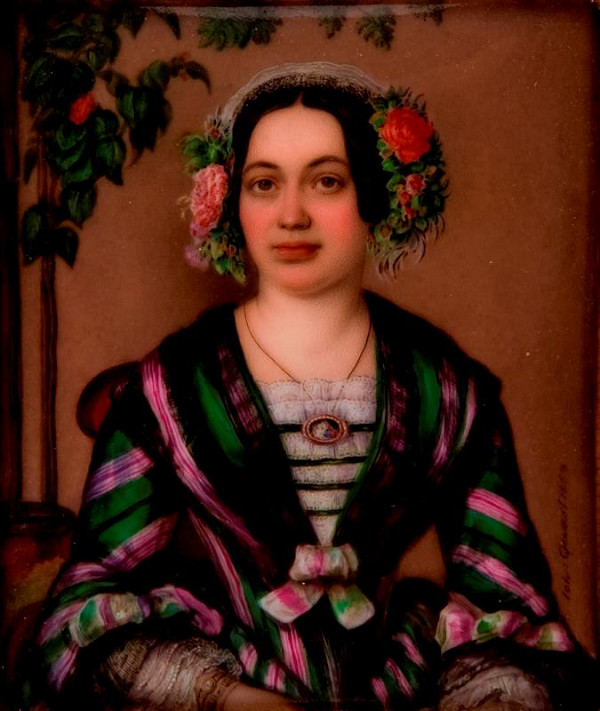 Jan Zachariáš Quast – Podobizna ženy v pruhovaných šatech