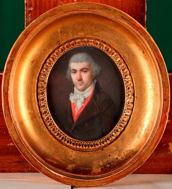 Fréderic Dubois (?) – Podobizna muže v červené vestě
