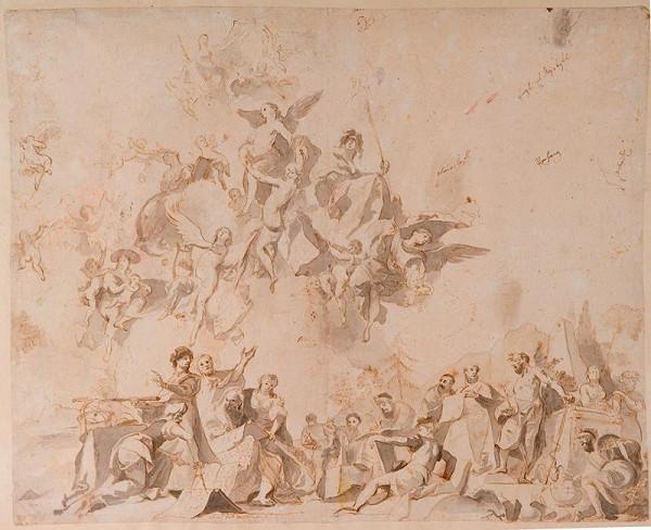 Josef Winterhalder II. (Winterhalter) - Alegorie umění a vědy