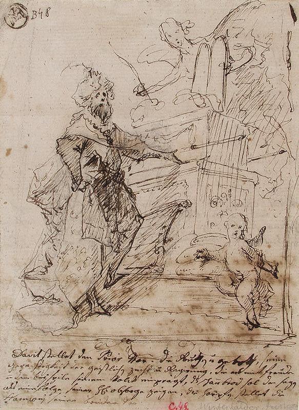 Josef Winterhalder II. (Winterhalter) – Král David před archou úmluvy