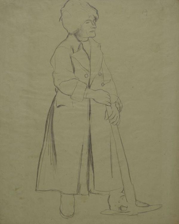 Otto Gutfreund - Ruský legionář s motykou - k vlysu Návrat legií