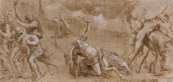 Giulio Pippi zv. Giulio Romano - okruh – Obrácení sv. Pavla