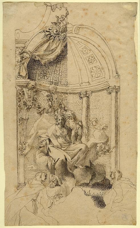Josef Winterhalder I. (Winterhalter) - Korunování P. Marie, hl. oltář u sv. Michala