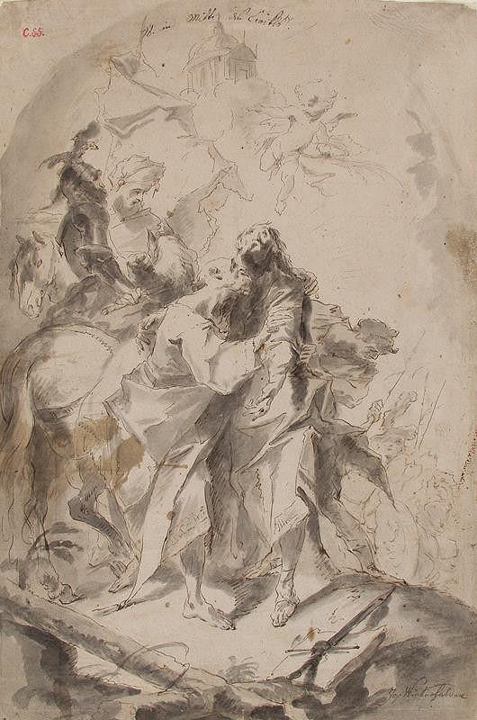 Josef Winterhalder II. (Winterhalter) - Loučení apoštolů sv. Petra a Pavla