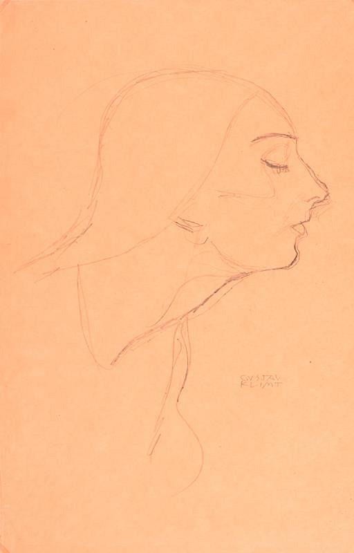 Gustav Klimt – Ženský profil