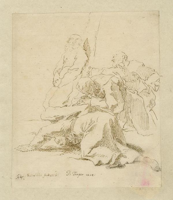 Josef Winterhalder II. (Winterhalter) - Modlící se mniši (klanící se skupina mužů)