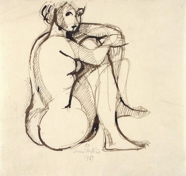 Jánuš Kubíček – Sedící akt ženy