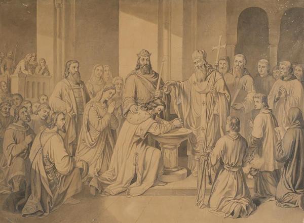 Josef Zelený - Křest knížete Bořivoje