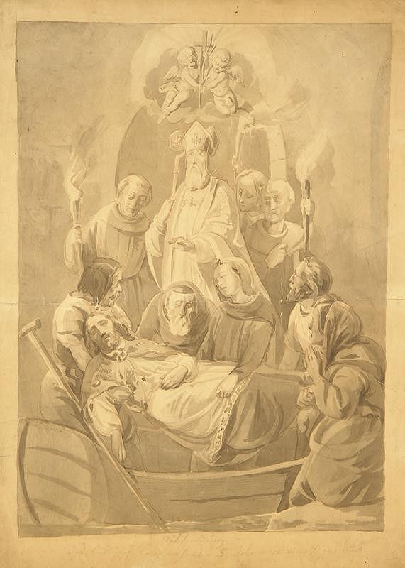 Alfons Mucha - Nalezení sv. Jana Nepomuckého