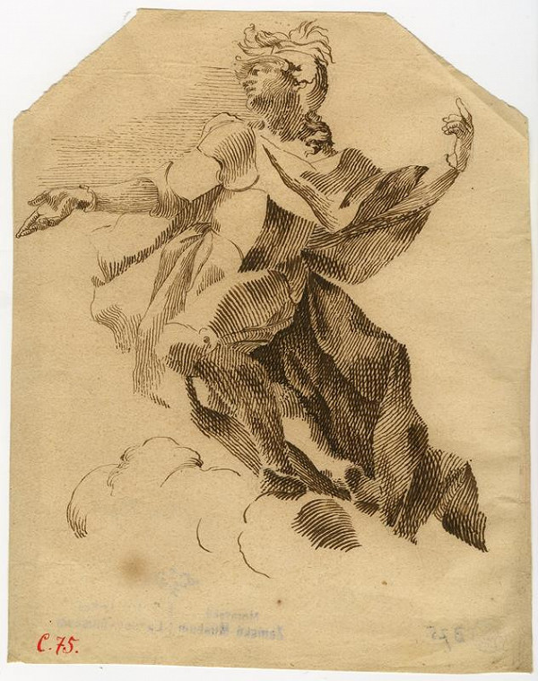 Josef Winterhalder I. (Winterhalter) - Figurální náčrt