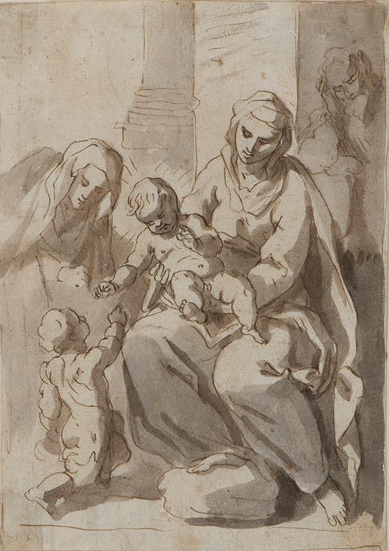 Jacopo Negretti zv. Palma il Giovane - podle - Sv. rodina