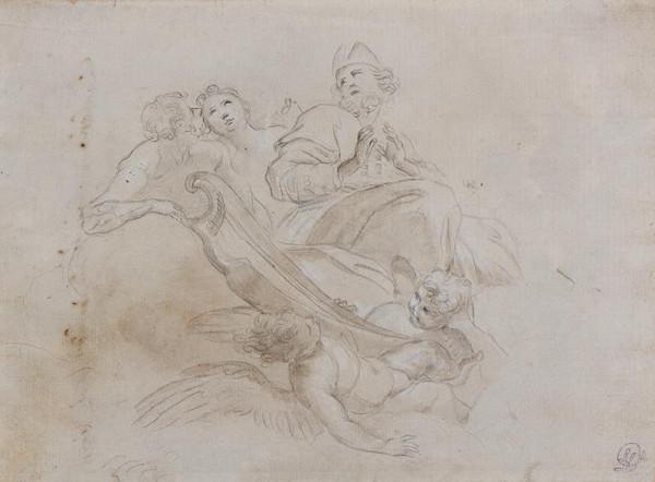 neznámý - Studie k fresce nebo závěsnému obrazu