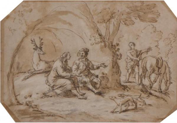 neznámý malíř italský - Siegfried znovu nalézá svou ženu